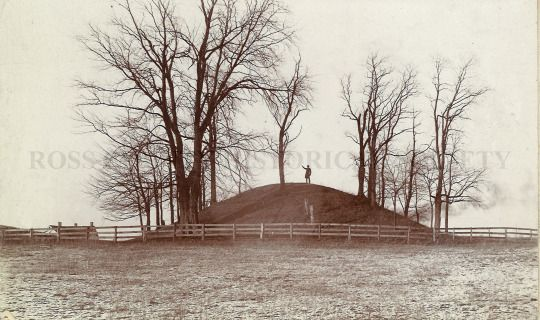 Story Mound in Chillicothe, Ohio. This photo was probably taken before the 1897 excavation.