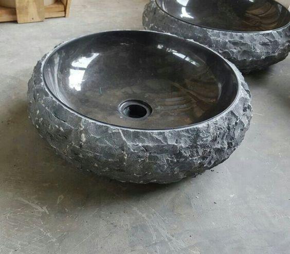Stone black marble natural stone