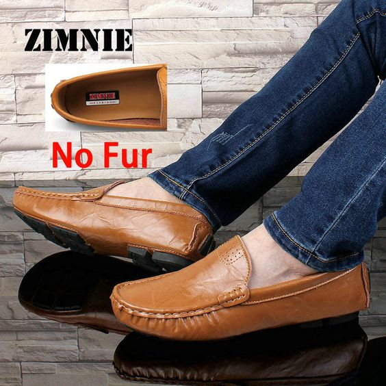 ZIMNIE Big Size 36~50 High Quality Genuine Leather Men Shoes Soft Moccasins Loafers Fashion Brand Men Flats Comfy Driving Shoes