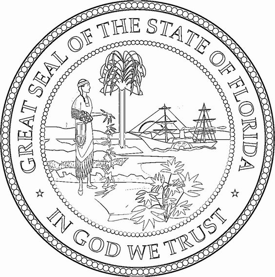 Colorado State Coloring Pages Awesome Seal Florida 1018 1024 Try