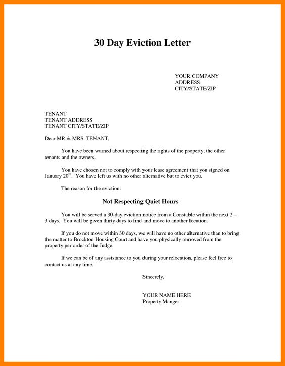 eviction letter samples template photo sample notice quit images - how to write a letter of eviction