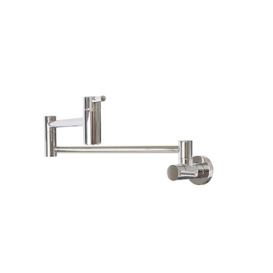 Belle Foret Wall-Mounted Potfiller in Chrome (Grey)