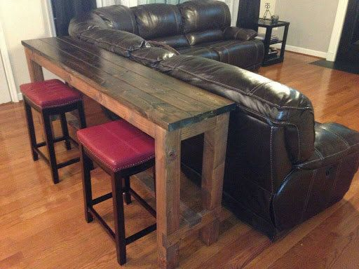 Counter Height Table Behind Couch U003d So Smart! | Home | Pinterest |  Basements, Living Rooms And Room