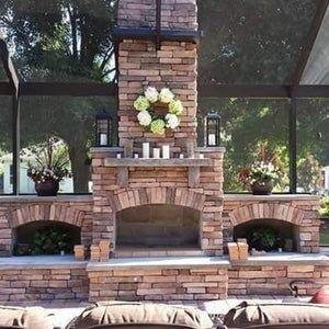 Pima Ii Diy Outdoor Fireplace Construction Plan Etsy In 2021 Outdoor Fireplace Plans Diy Outdoor Fireplace Outdoor Fireplace