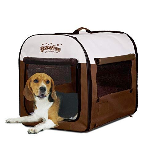 Pawise Folding Soft Dog Crate Pet Kennel Houses Pens Indoor