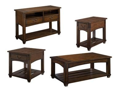 Shop for England Tables, H049, and other Living Room Tables at England Furniture in New Tazewell, TN. Rustic occasional collection with V-grooved planked tops & distressing that give each piece a warm & cozy feeling that is sure to fit in many homes.