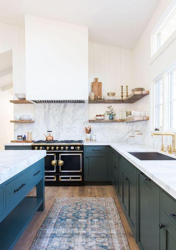 Inspiring Kitchen Design Ideas From Pinterest Kitchen Inspiration Design Green Kitchen Cabinets Kitchen Design