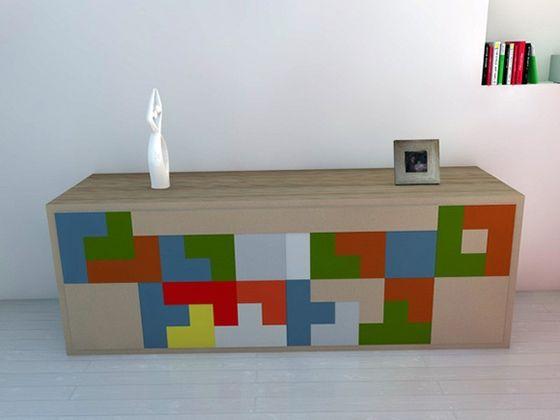 Tetris Furniture From Pedro Machado  Http://www.behance.net/masteroftheuniverse | Design | Pinterest | Shelves,  Drawers And Furniture