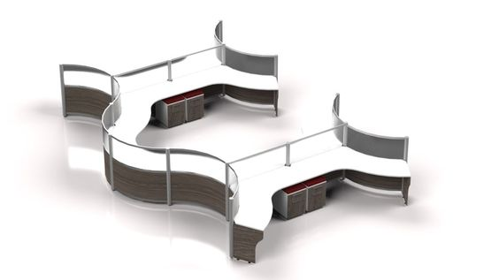 Curved Workstations Futuristic Office Furniture Office