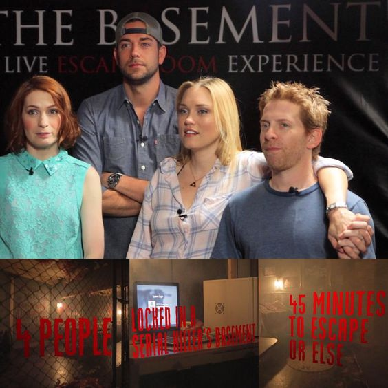 The Flog is back! Go to geekandsundry.com to watch! @zacharylevi @sethgreen and @claregrant join me in trying to escape a room! #theflog