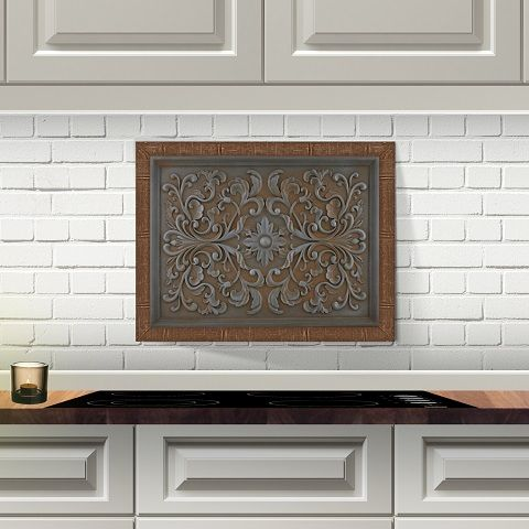 Decorative Wall Plaques To Dress Up Your Kitchen Backsplash Kitchen Backsplash Designs Kitchen Backsplash Stove Decor