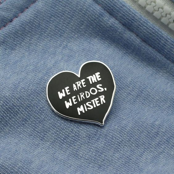 We are the Weirdos, Mister... Enamel Pin with clutch back // The Craft, cult lapel pins, Witch