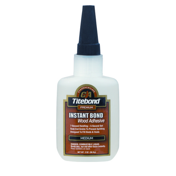 Titebond Quick And Thick Glue 8oz Wood Glue