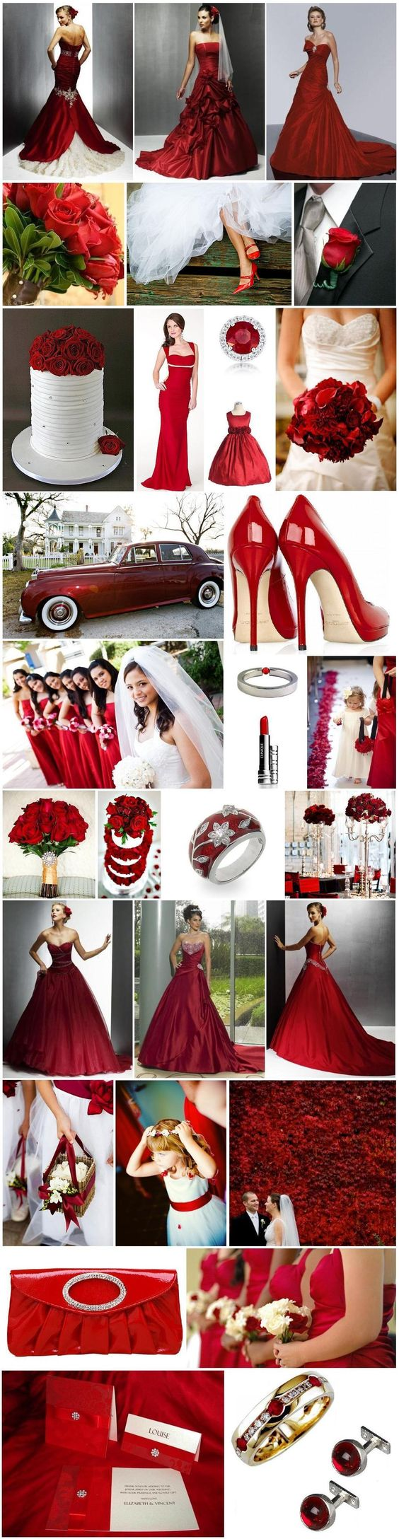 Red Inspiration  http://blacktieweddinginvitations.com.au/blog/archives/3096: