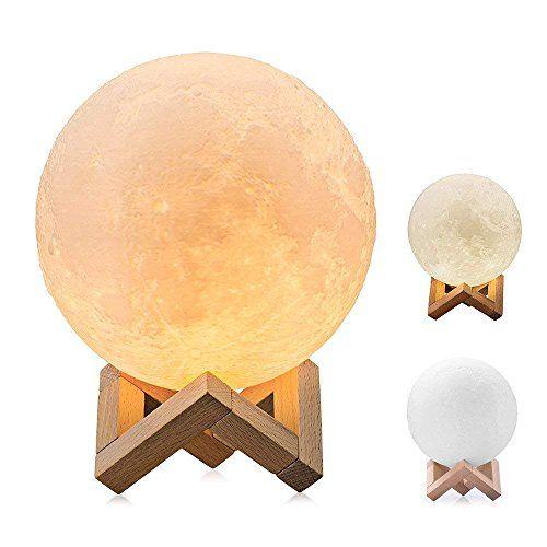 Mond Lampe 3d Printing Led Nachtlicht 15cm Light Moonlam Nachtlicht Nachtleuchte Mond Lampe