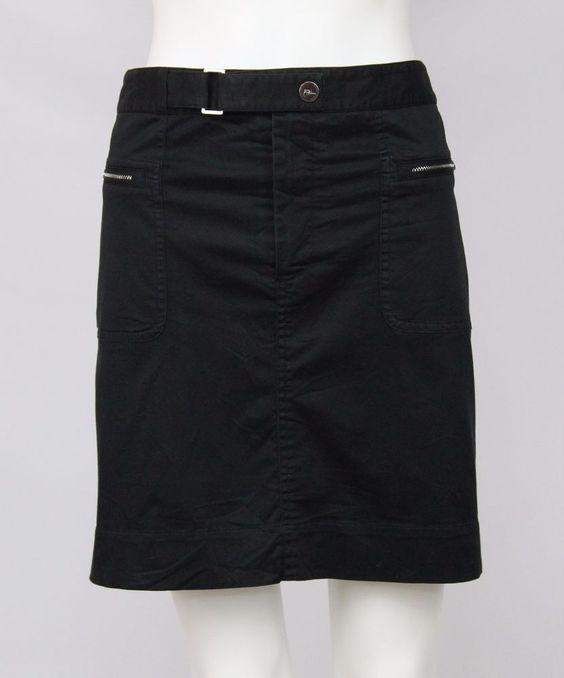 Ralph Lauren Golf Womens Size 12 Black Cotton Stretch Zipper Pockets Skort Skirt #RalphLauren #SkirtsSkortsDresses