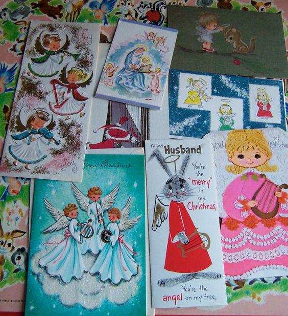 various vintage christmas cards and ephemera on Etsy, $14.99