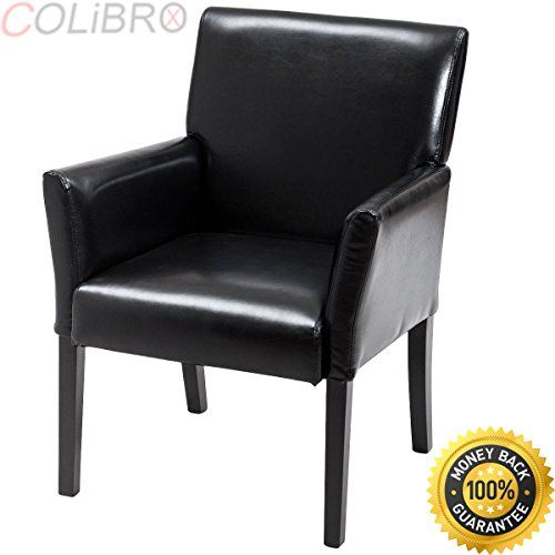 Colibrox Executive Pu Leather Guest Chair Reception Side Arm
