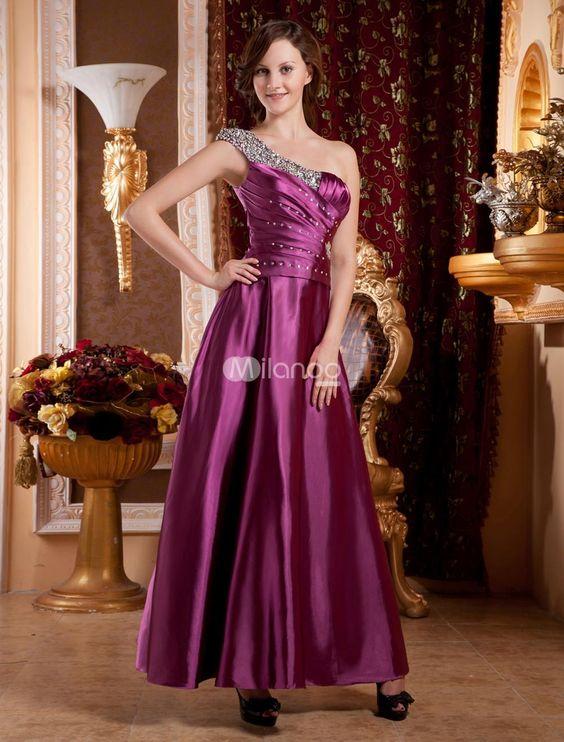 Lavender One-Shoulder Floor Length Satin Prom Dress. Lavender One-Shoulder Floor Length Satin Prom Dress. See More One Shoulder at http://www.ourgreatshop.com/One-Shoulder-C935.aspx