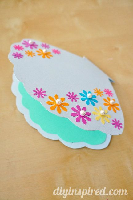 DIY Little Mermaid Clam Shell Card -- another cute card for a little girl's party invitation: