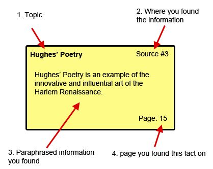 format for research paper note cards mla Code each card with the author's name, or part of the title of the reference source - follow format in note card example section v these note cards contain the indexed information you find during your research.