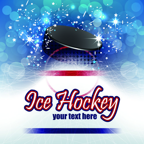 Ice Hockey Creative Poster Creative Posters Hockey Vector Free