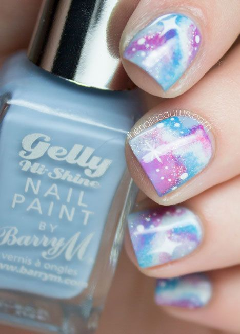 #nail #paint #polish #art #galaxy