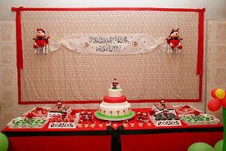 Joaninhas para Malu!  Decoração Trocentas Idéias! - Ladybug Party