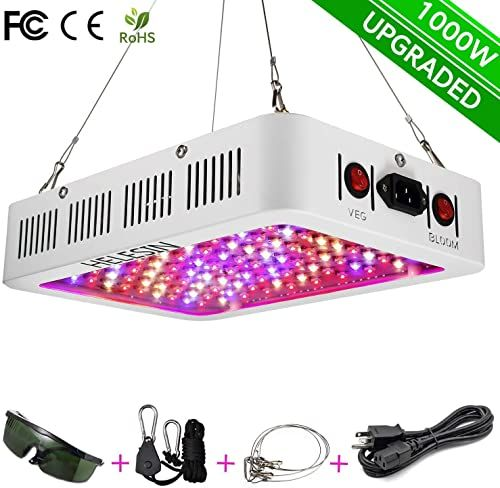 New Helesin 1000w Led Grow Light Bloom Veg Switch Daisy Chained Design Full Spectrum Led Grow Lamps Indoor Greenhouse Hydroponic Plants Flowers Online Sho In 2020 Indoor Greenhouse Led Grow Lights