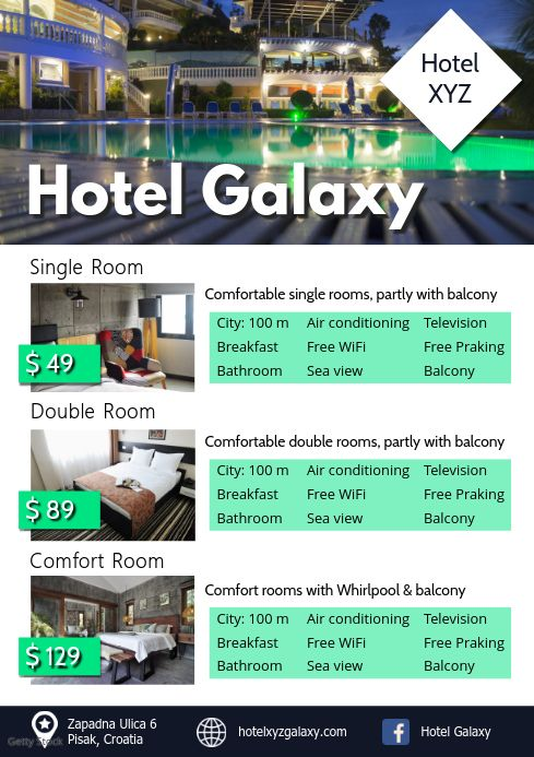 Hotel Rooms Price Lists Holiday Parc Travel Price List Template Hotel Price Price List Design