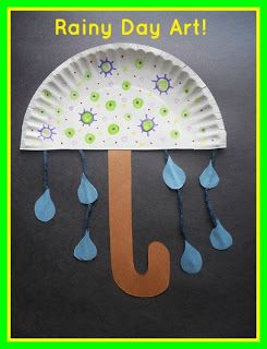 Fun umbrella art project! perdect for a weather unit!  A Kindergarten Smorgasboard Schedulin Sunday and Boot Scootin Blog Hop!: