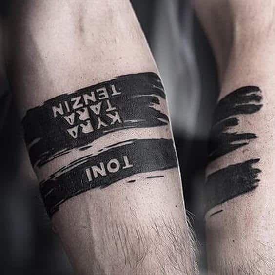 Mann band unterarm tattoo Tattoo Arm