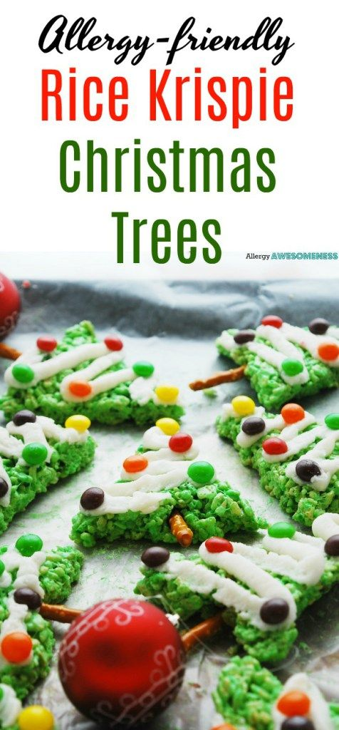 Allergy Friendly Rice Krispie Christmas Trees Recipe Dairy