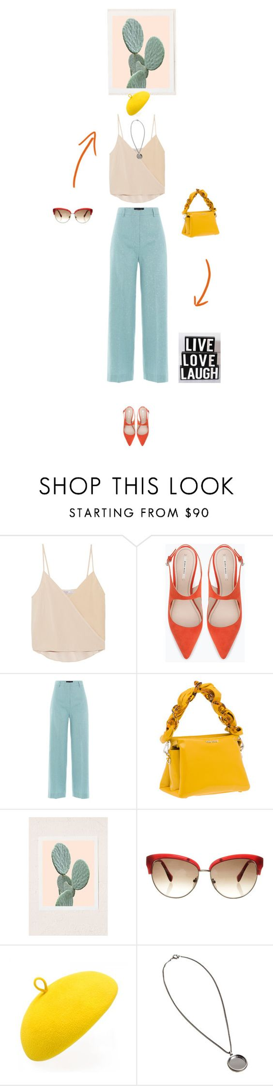"""""""live laugh love"""" by fanfan-zheng ❤ liked on Polyvore featuring Chelsea Flower, Zara, Piazza Sempione, Miu Miu, Urban Outfitters, Emilio Pucci, Mademoiselle Slassi and Ann Demeulemeester"""