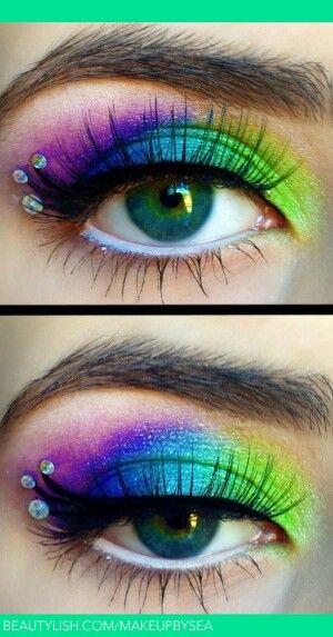 Rainbow eyes!