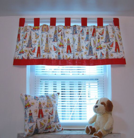 Kids Window Treatments Curtain Valance Boys Room Nursery