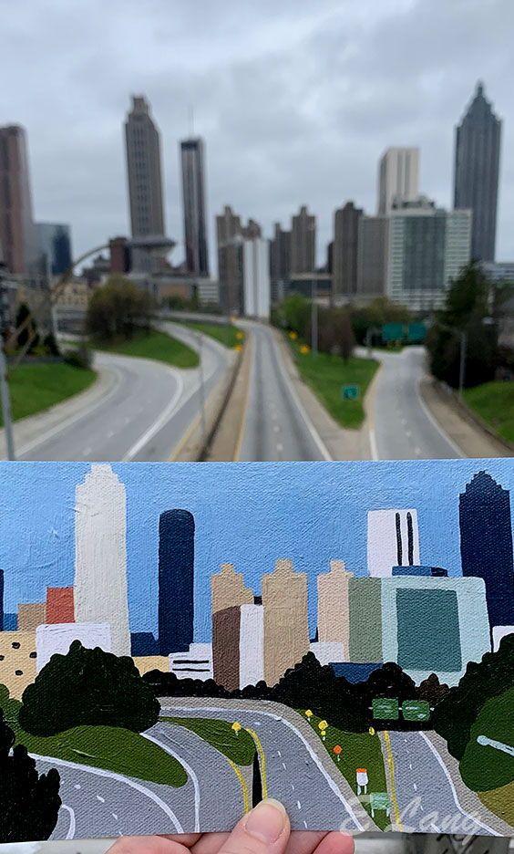 Freedom Parkway Atlanta Georgia Atlanta Artist Nature Inspiration Colorful Artwork Abstract