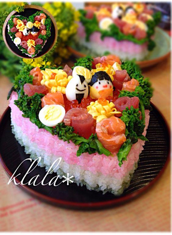 くらら's dish photo の雛寿司 | http://snapdish.co #SnapDish #ひな祭り お寿司グランプリ #晩ご飯 #ひな祭り #お寿司