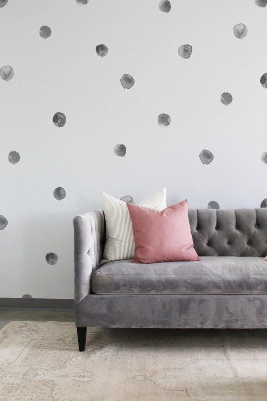 Watercolor Dots Wall Decal In 2020 Bedroom Wall Polka Dot Wall