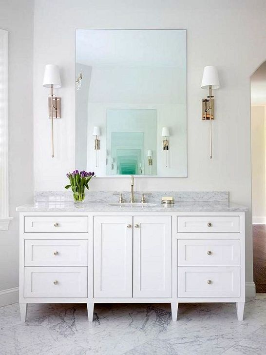 30 Fascinating Bathroom Vanity Lighting Design Ideas In 2020 Master Bathroom Vanity White Vanity Bathroom Bathroom Furniture Vanity