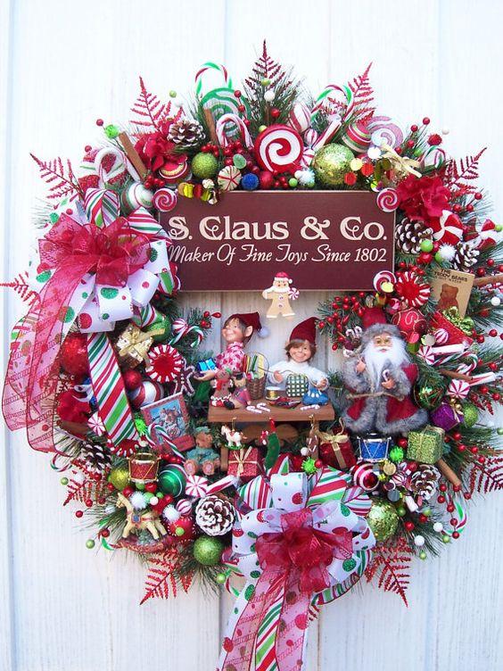 Christmas Santa workshop wreath.  Stunning