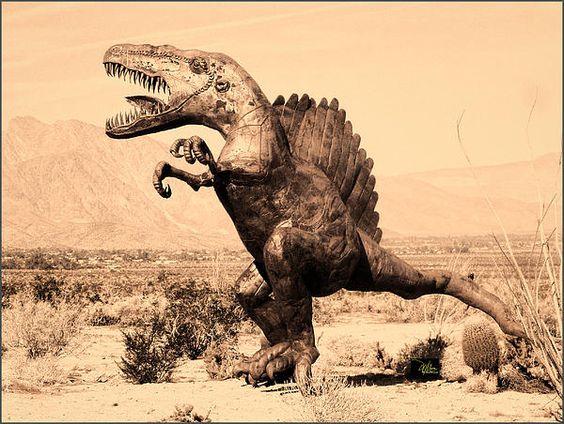 Dinosaur Sculpture - Anza Borrego Desert Photograph by Douglas MooreZart #photography #fineart #dinosaur #sculpture #desertphotography #anzaborrego #douglasmoorezart