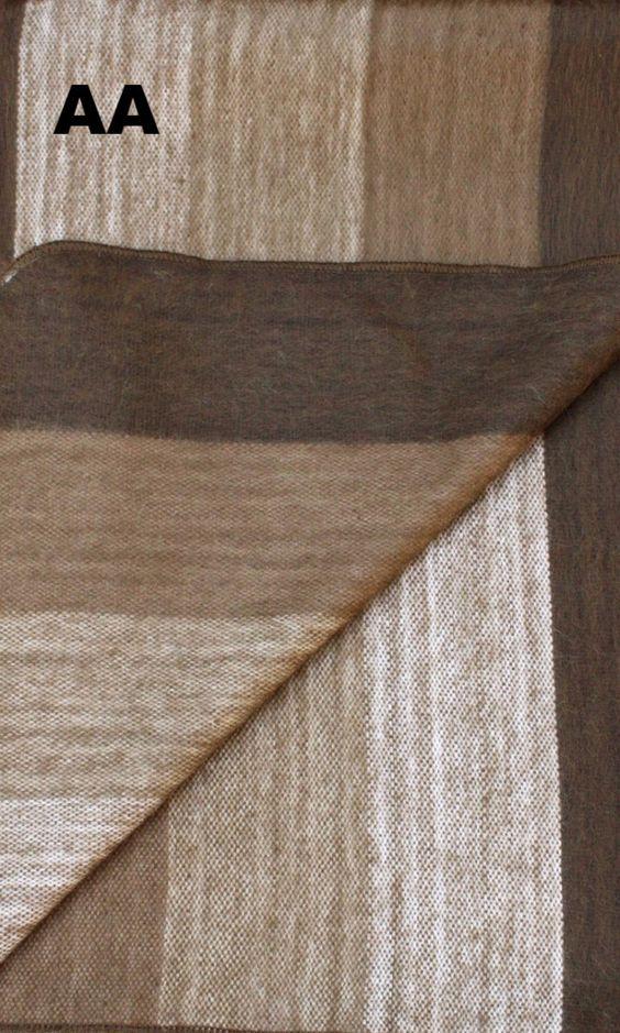 Alpaca Bed Blanket - Striped