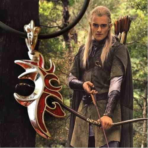 Hobbit Collar Replica Legolas Senor De Los Anillos 199 00 El Senor De Los Anillos Legolas Anillos