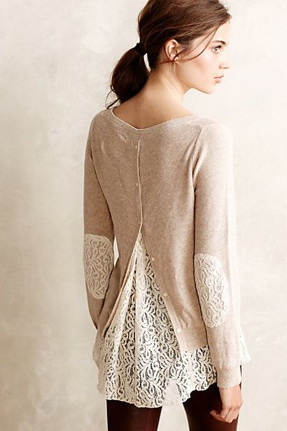 Lacescape Pullover - anthropologie.com I don't know if the fit would work, but I like the look: