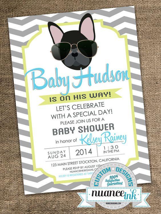Puppy baby shower invitations unitedarmyfo french bulldog puppy baby shower invitations hipster by nuanceink baby shower invitations filmwisefo