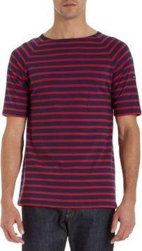Saint James Striped Short Sleeve Raglan Tee on shopstyle.com