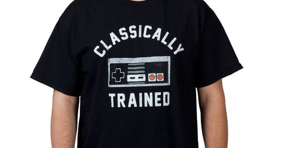 Classically Trained NES Controller Shirt made by Trevco in collections: Video Games: Nintendo, & Department: Adult Mens, & Color: Black