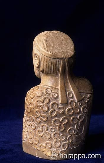 """Priest King"" from Mohenjo-daro (back):"