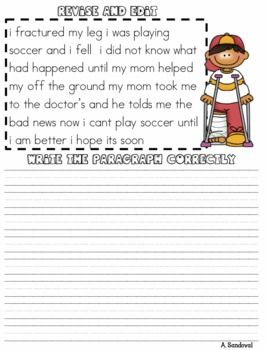 Printables Third Grade Editing Worksheets editing worksheets 3rd grade second sentence paragraphs worksheets